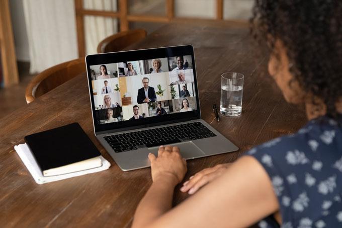 Videokonferenz im Homeoffice