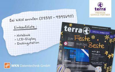 """terra Weihnachtsprospekt: """"Zum Feste nur das Beste""""…"""